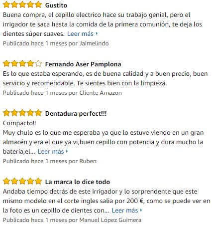 opiniones de compradores irrigador oral 100