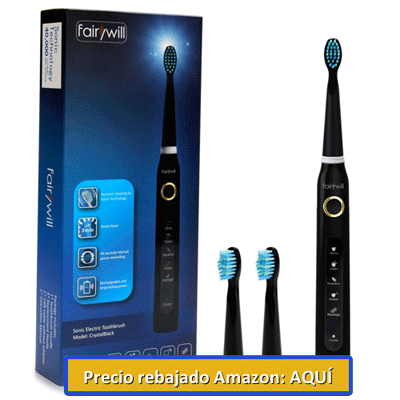 cepillo de dientes electrico crystal black