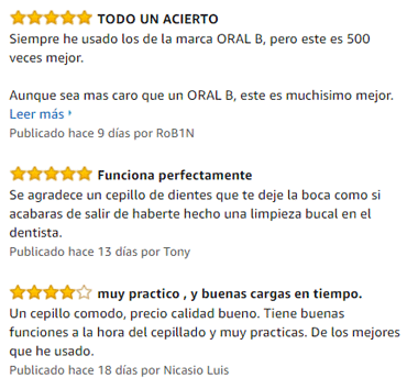 comentarios en amazon cepillo electrico philips