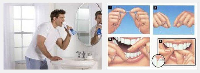 instrumentos para lavarse los dientes