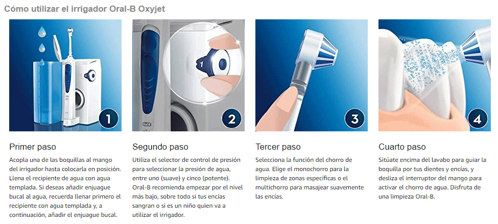 usor dell irrgador dental OralB Oxyjet